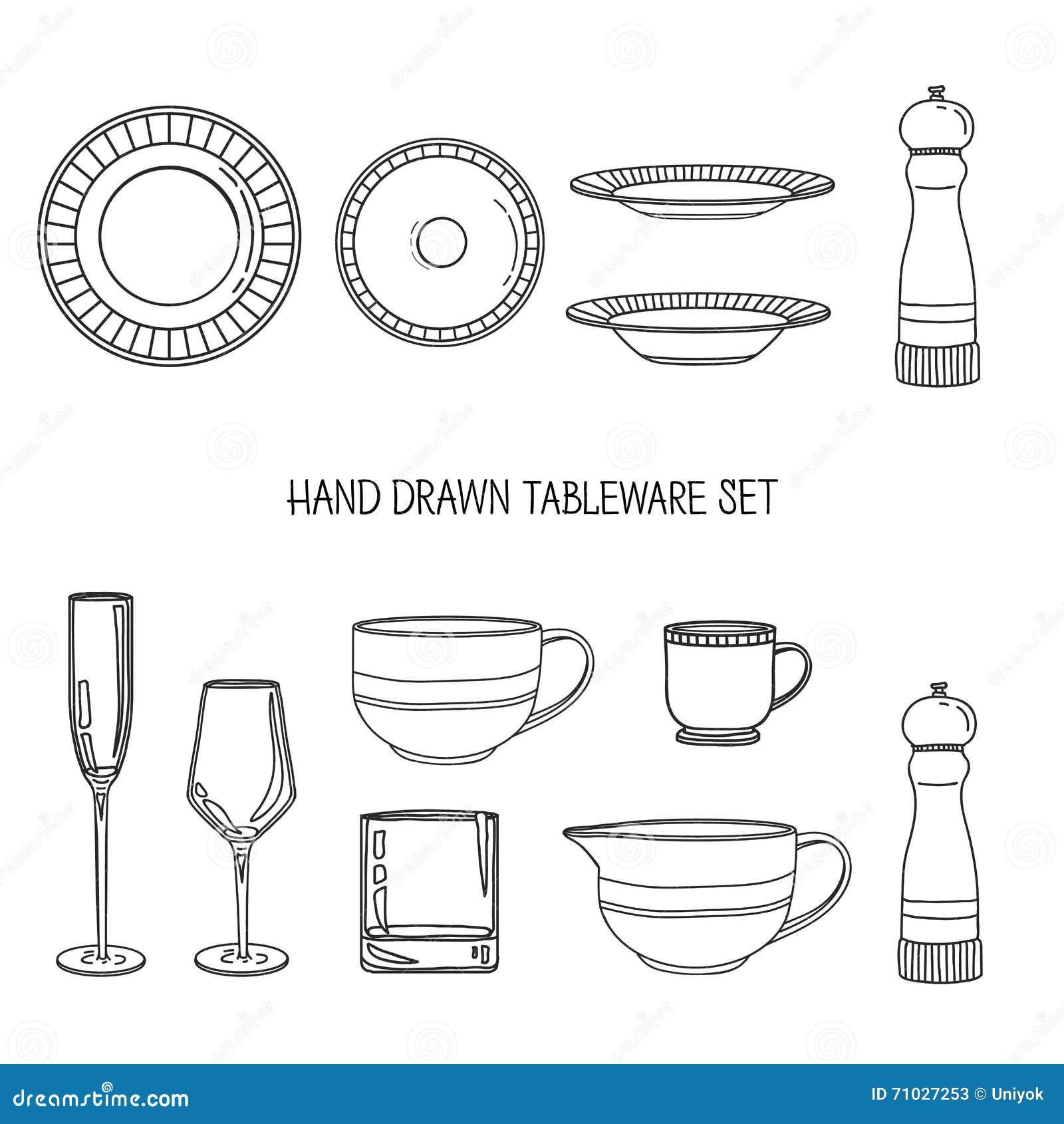 Positionnement d 39 ustensile de cuisine une vaisselle de for Dessine une cuisine