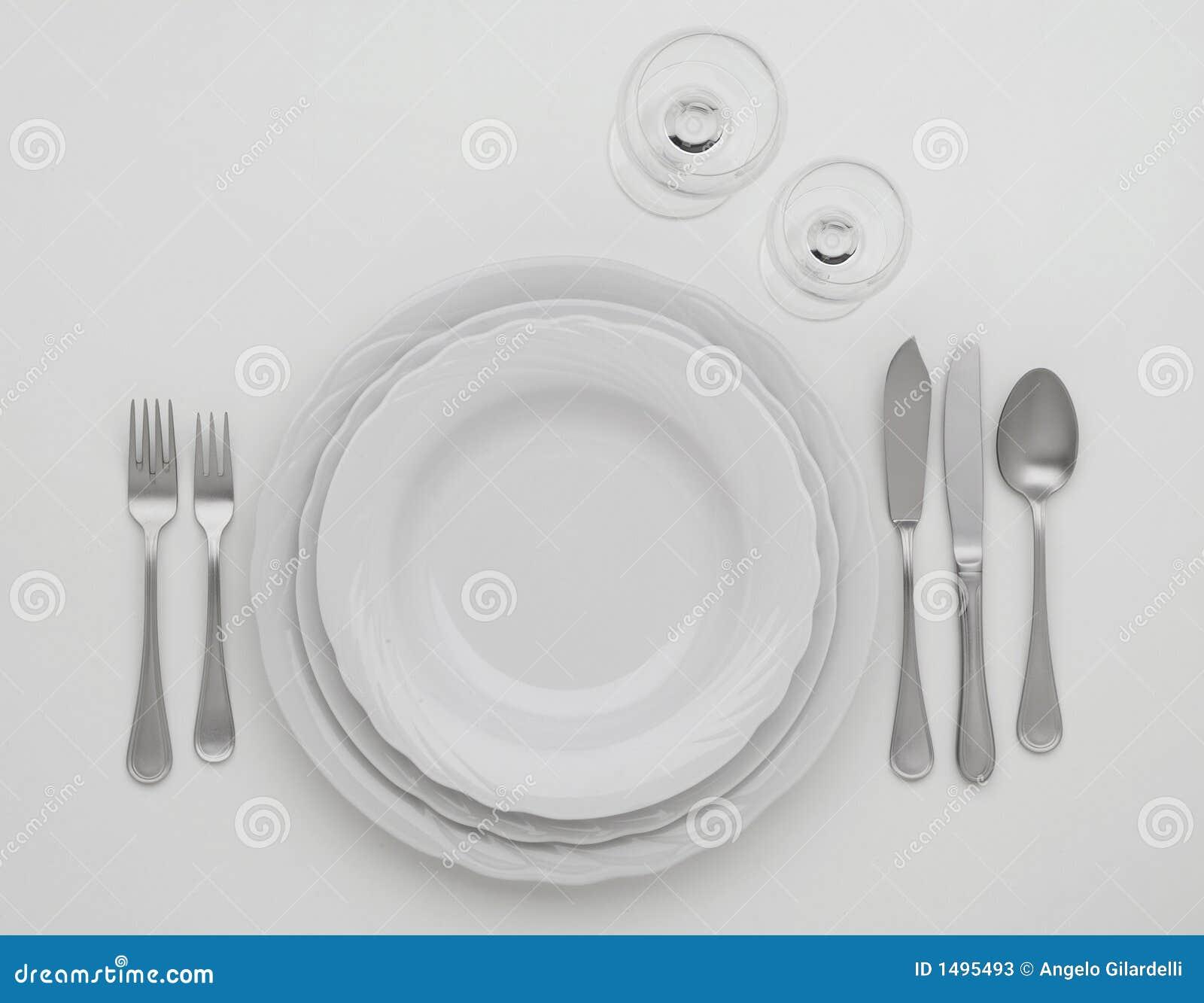 Positionnement de couverts photos stock image 1495493 for Position des couverts sur la table