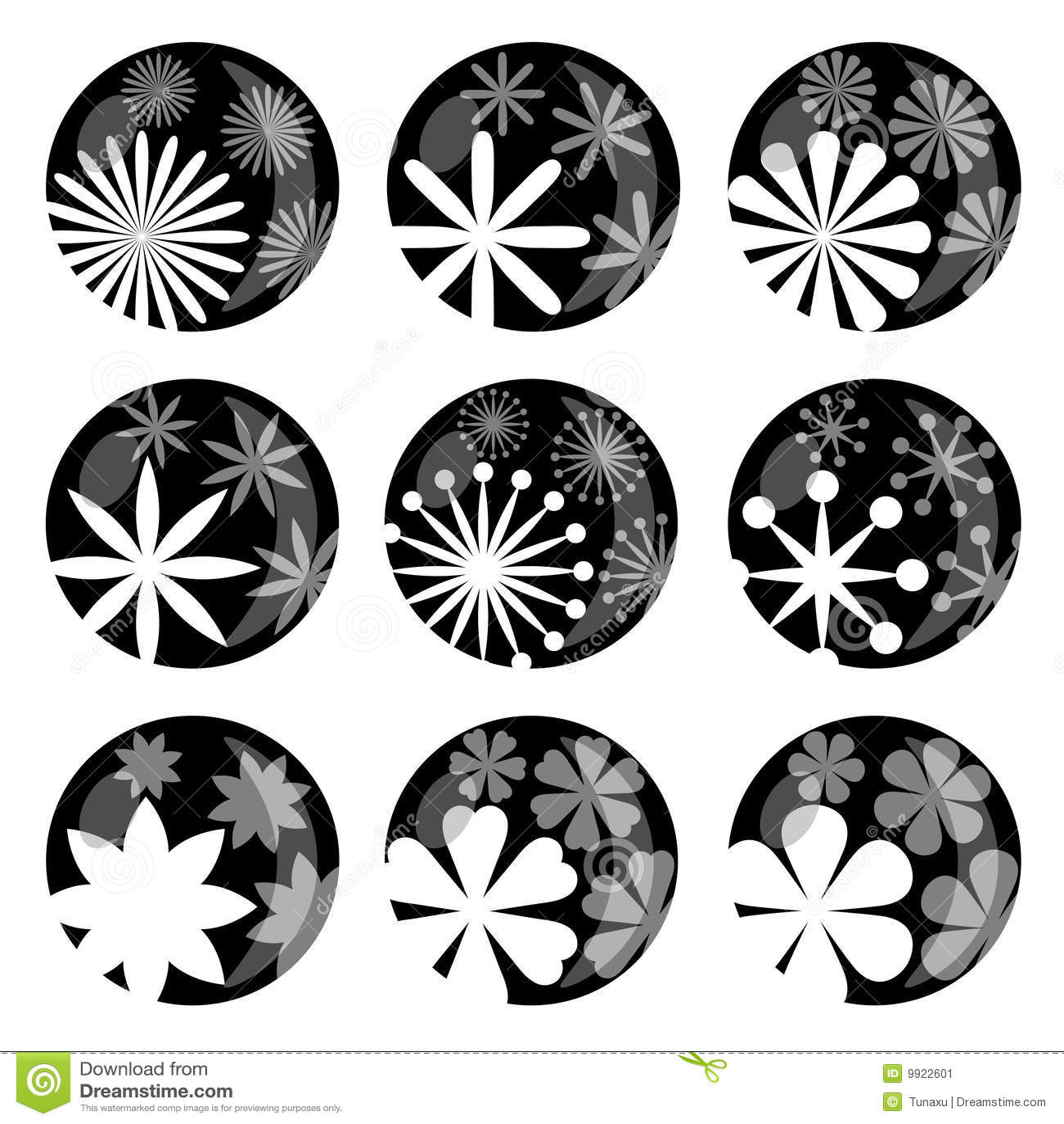 Positionnement De Graphisme De Fleur Illustration de Vecteur - Illustration du abstrait, objets ...