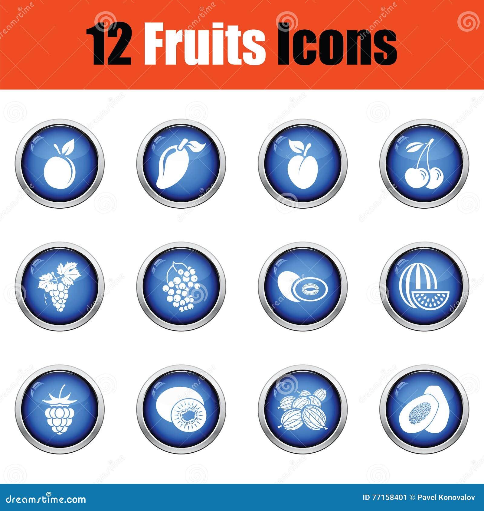 Positionnement de graphisme de fruit