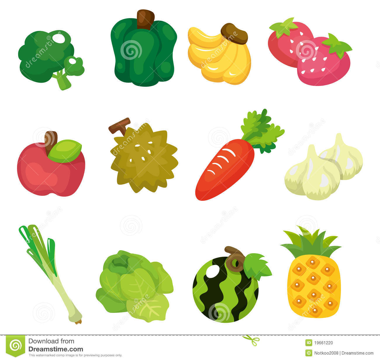 positionnement de graphisme de fruits et lgumes de dessin anim photo stock - Dessin De Lgumes