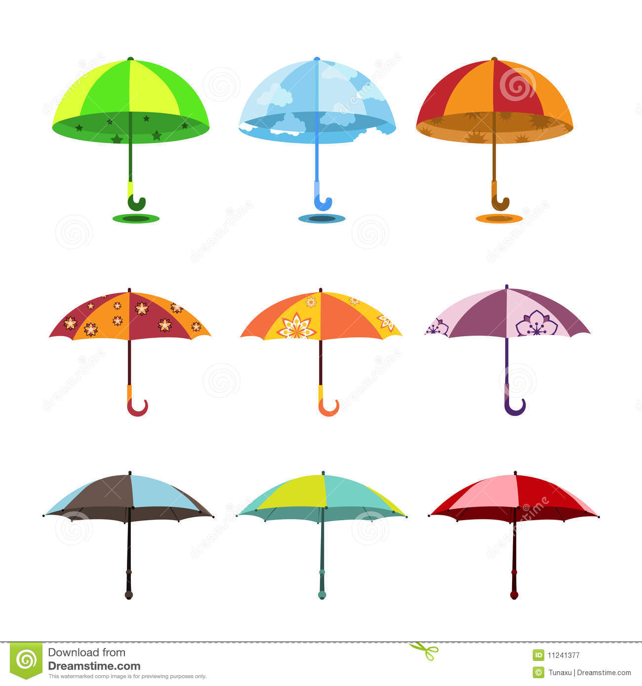 Positionnement de parapluie illustration stock - Dessin parapluie ...