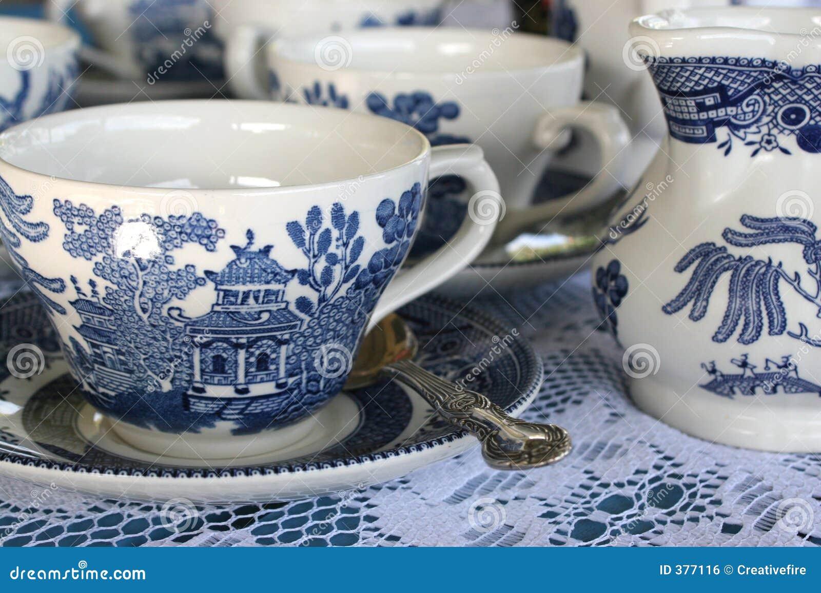 Positionnement de thé bleu de la Chine
