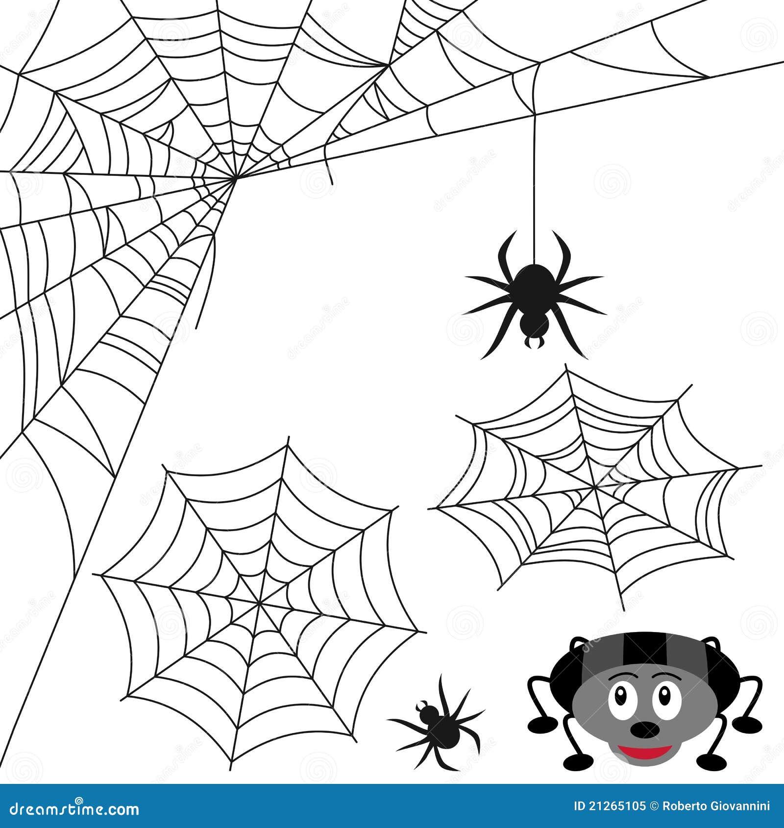 Positionnement de toile d 39 araign e illustration de vecteur image 21265105 - Araignee dessin ...