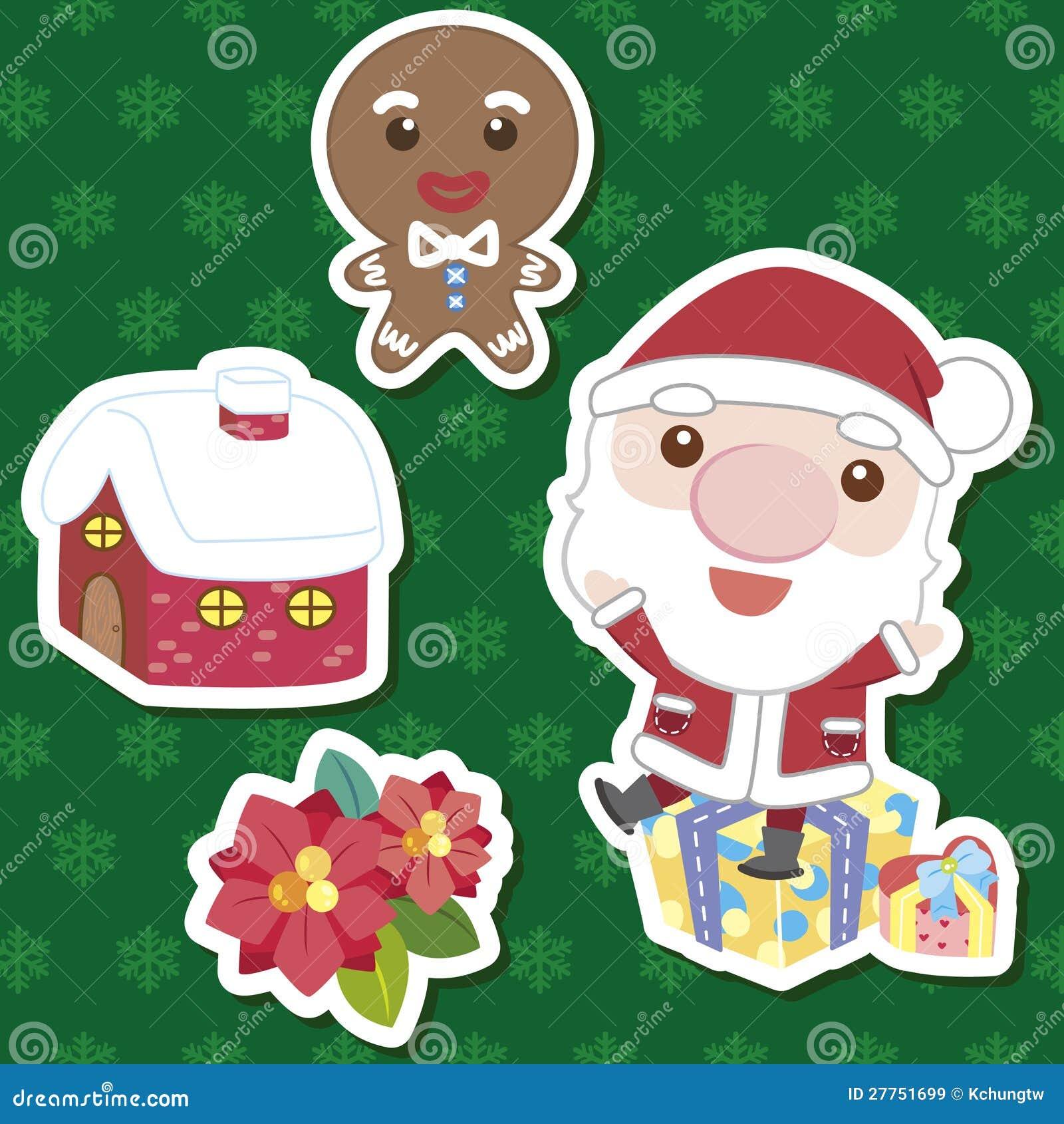 Positionnement mignon de dessin animé de Noël