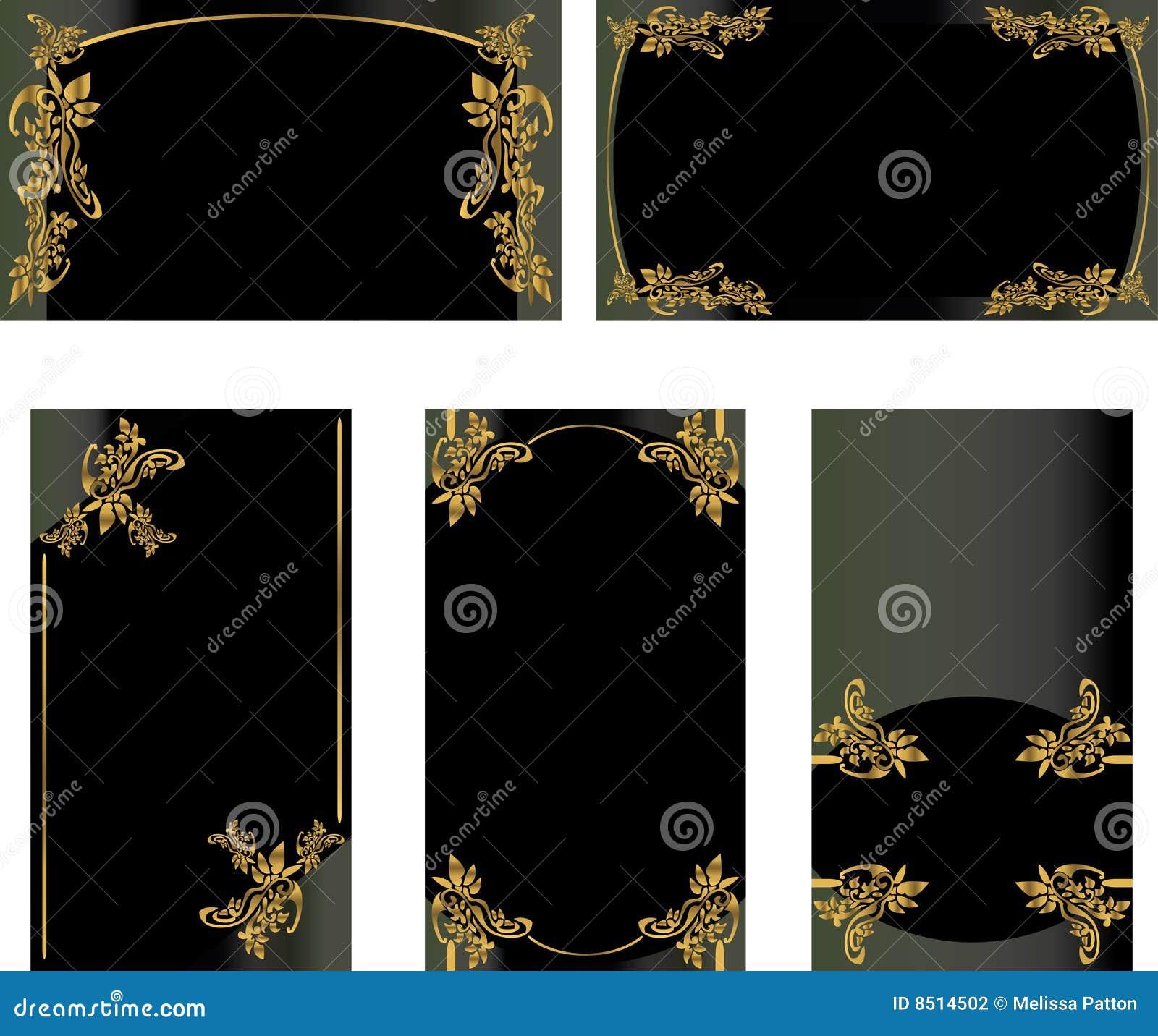 Positionnement Noir D Or De Carte Visite Professionnelle Du 2