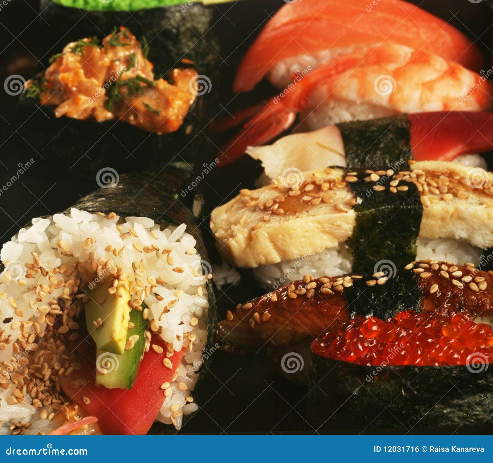 Positionnement traditionnel japonais de sushi