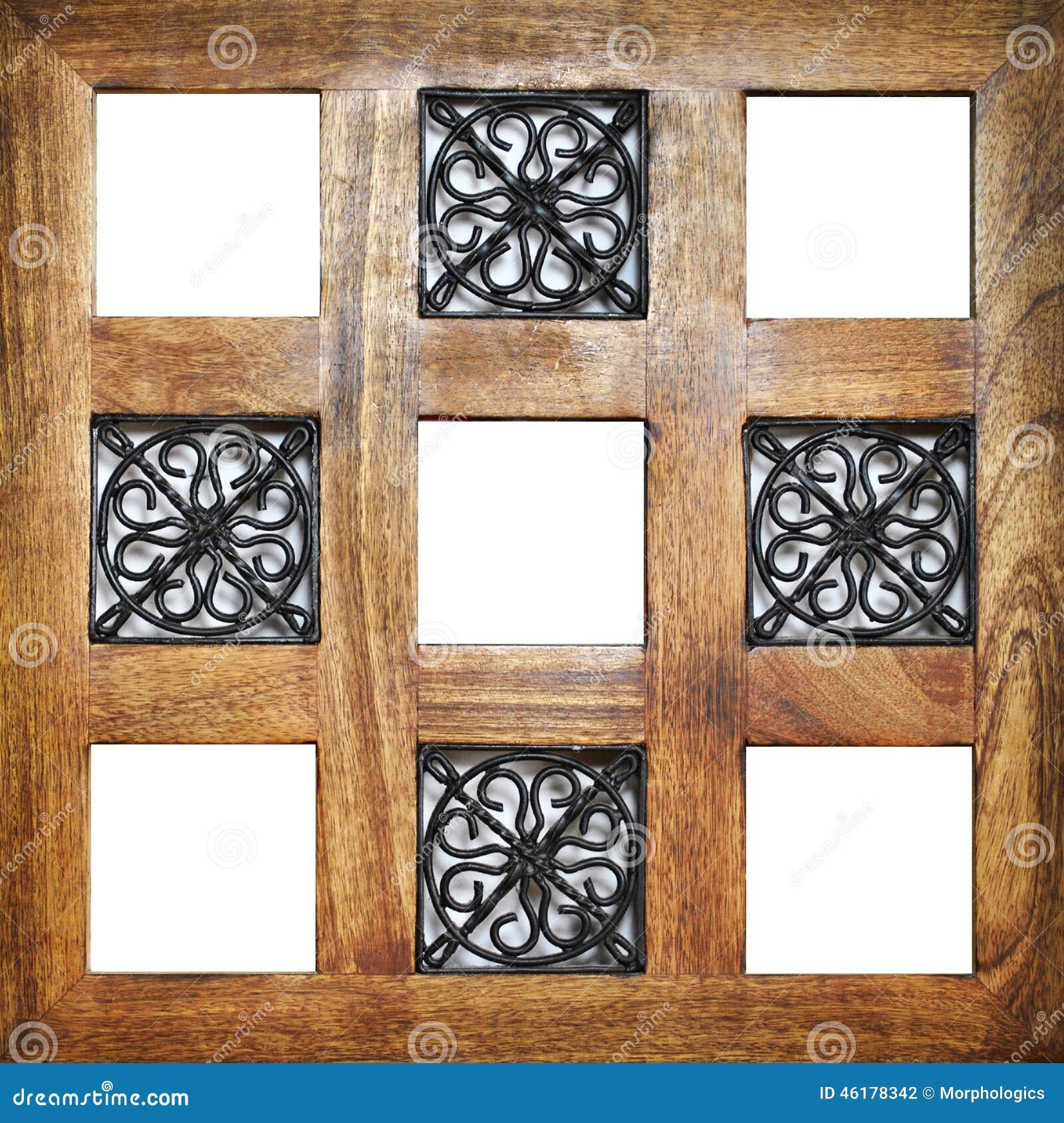 positions vides en bois multiples de cadre photo stock. Black Bedroom Furniture Sets. Home Design Ideas