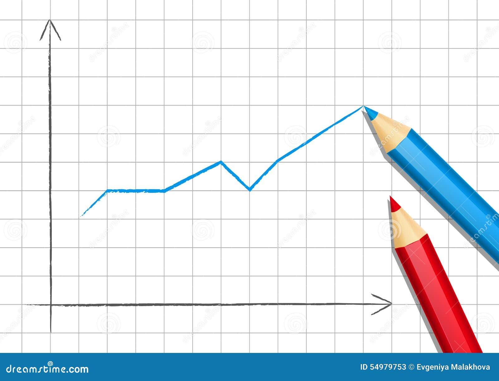 Positiv graf för din design