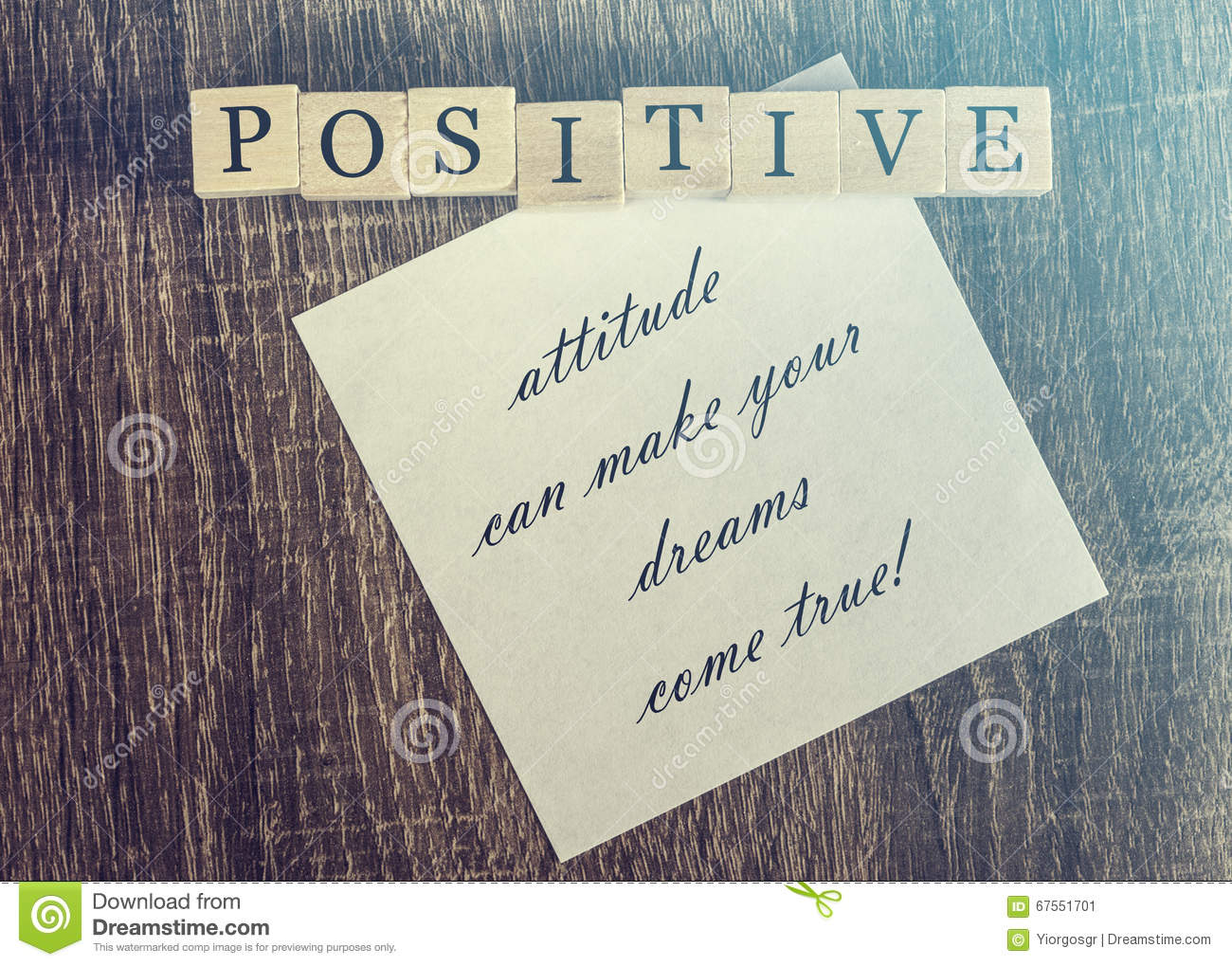 Gut gemocht Positive attitude quote stock image. Image of grunge - 67551701 DA51