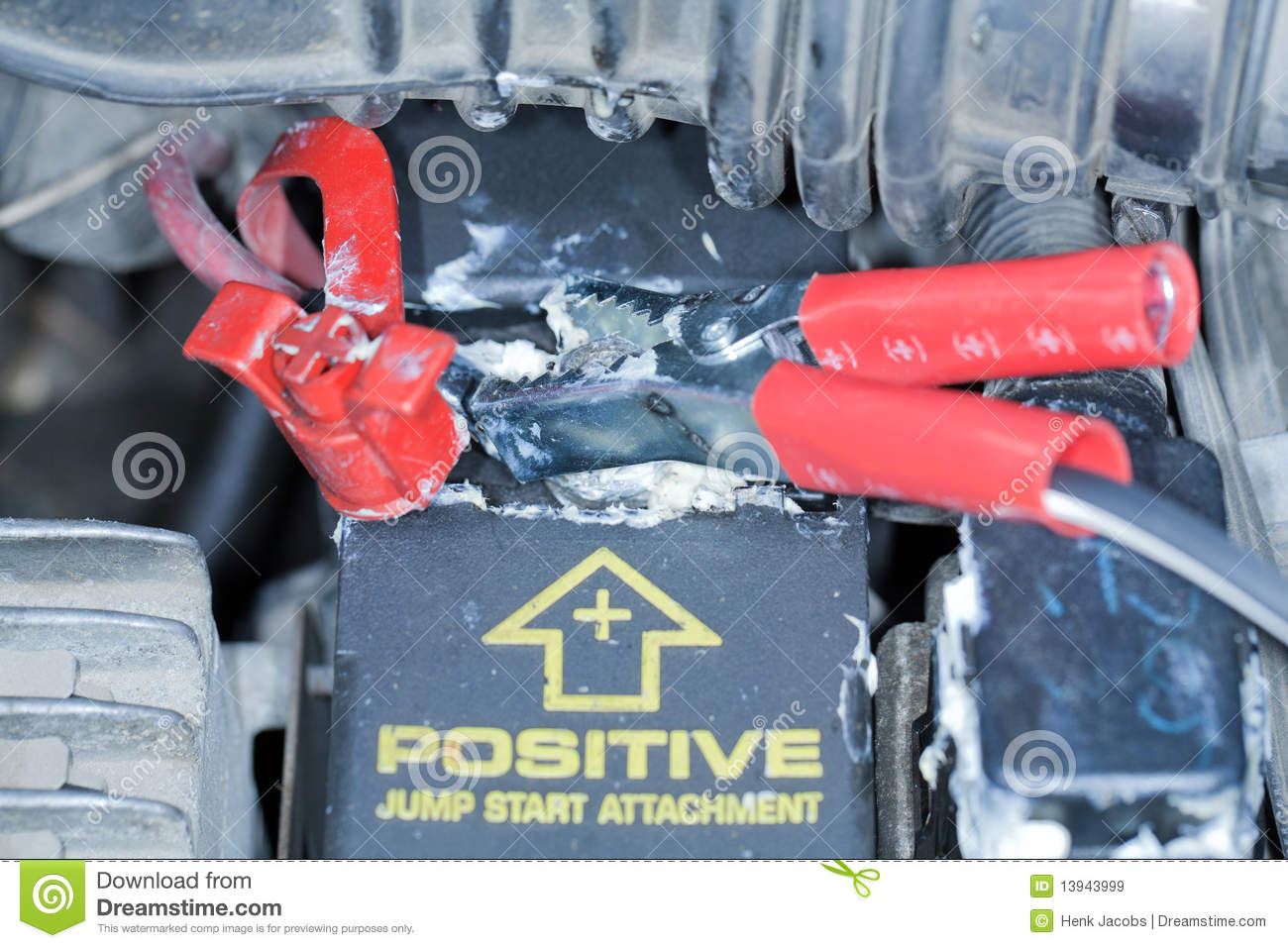 Positive Battery Terminal stock image. Image of white - 13943999