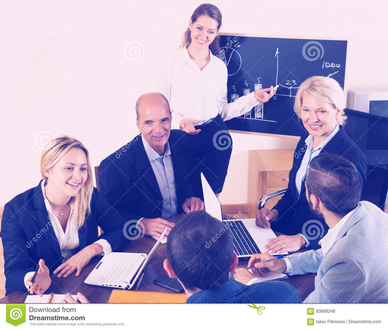 Positive Brainstorming In Office Stock Photo