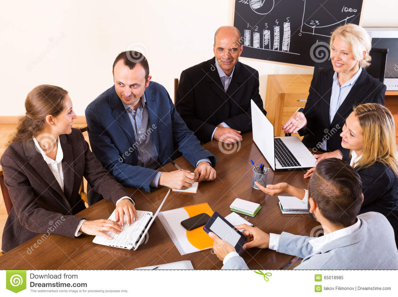 Positive Brainstorming In Office Stock Image