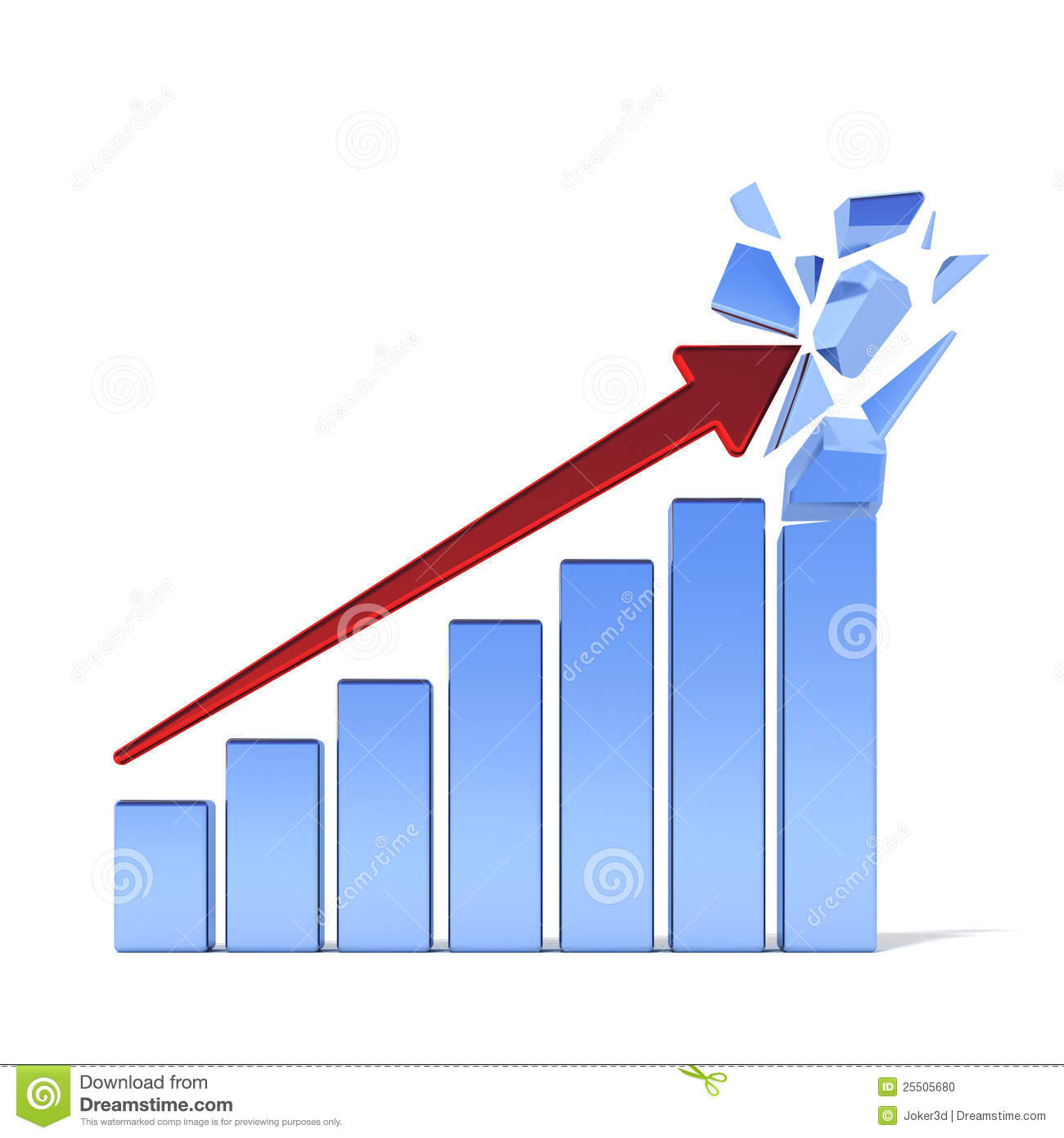 Positive Business Graph Stock Photo - Image: 25505680