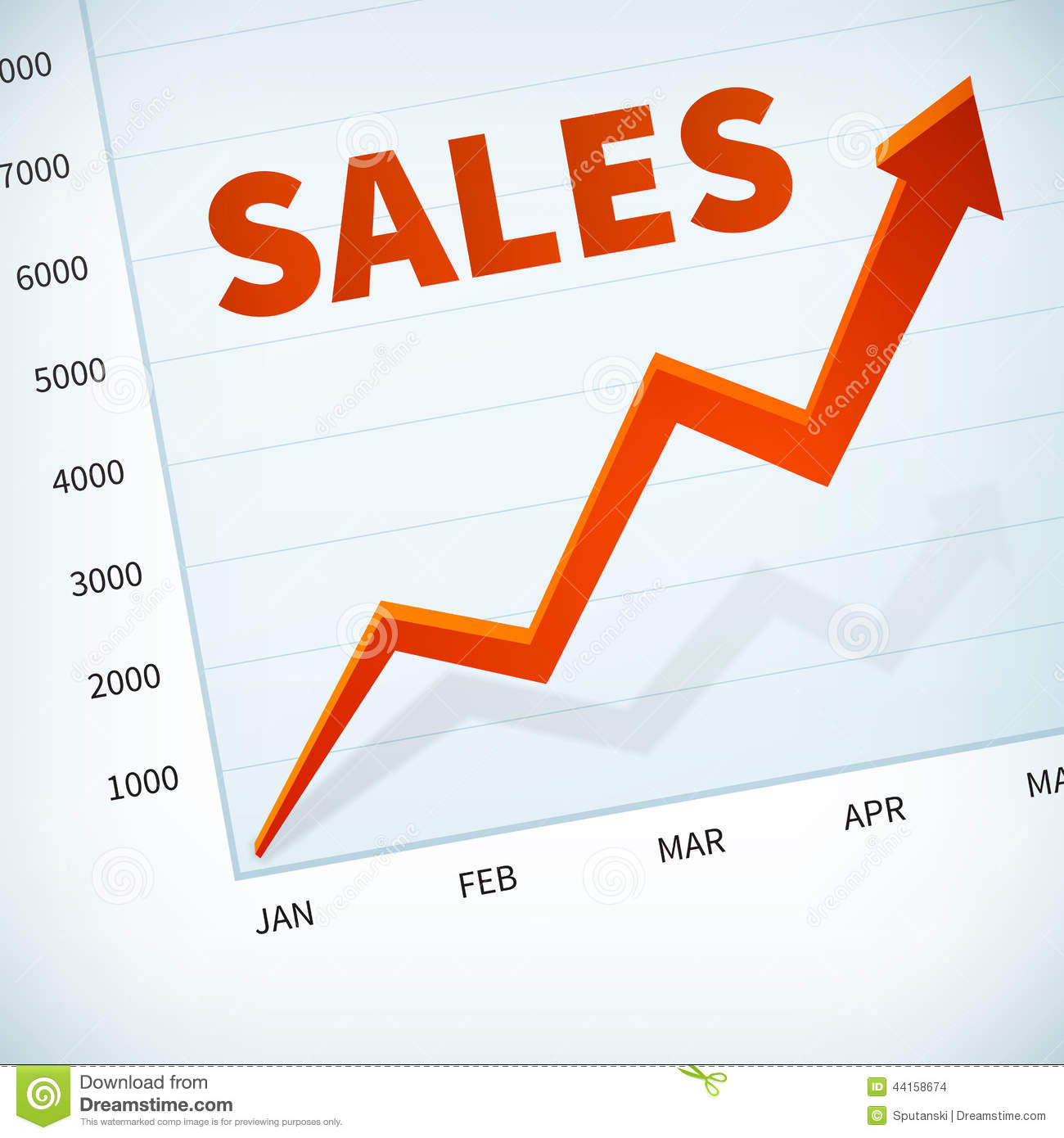 upward sales chart stock photo image of computer expenses 4960316