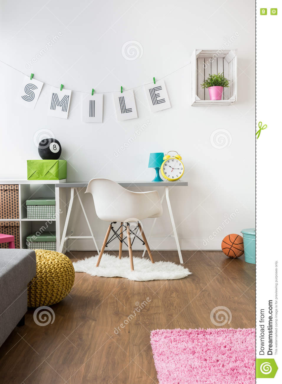 Positive Energy Kids 39 Room Design Stock Image Image Of