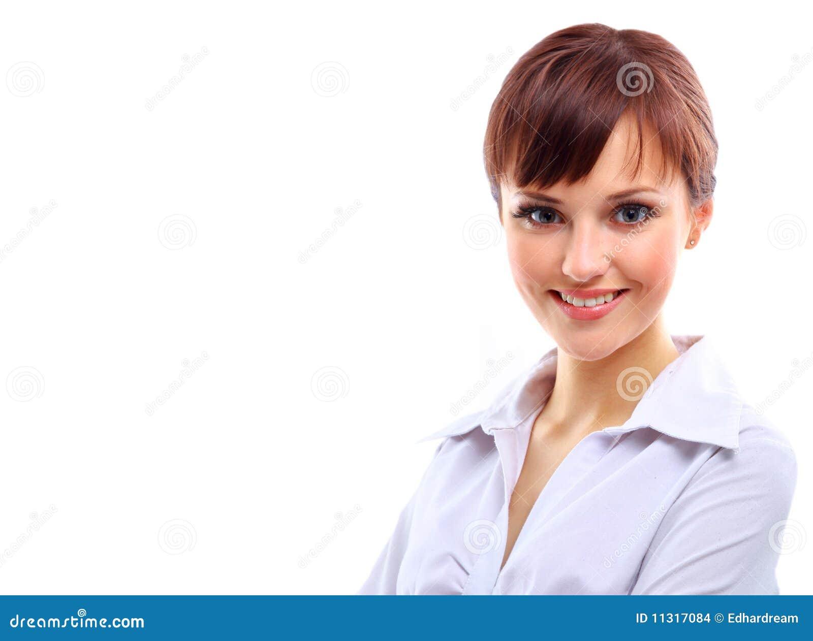 Positive Geschäftsfrau