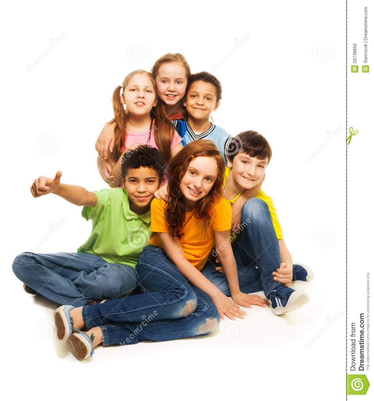 Group of happy ersity looking kids stock photo image 29738650