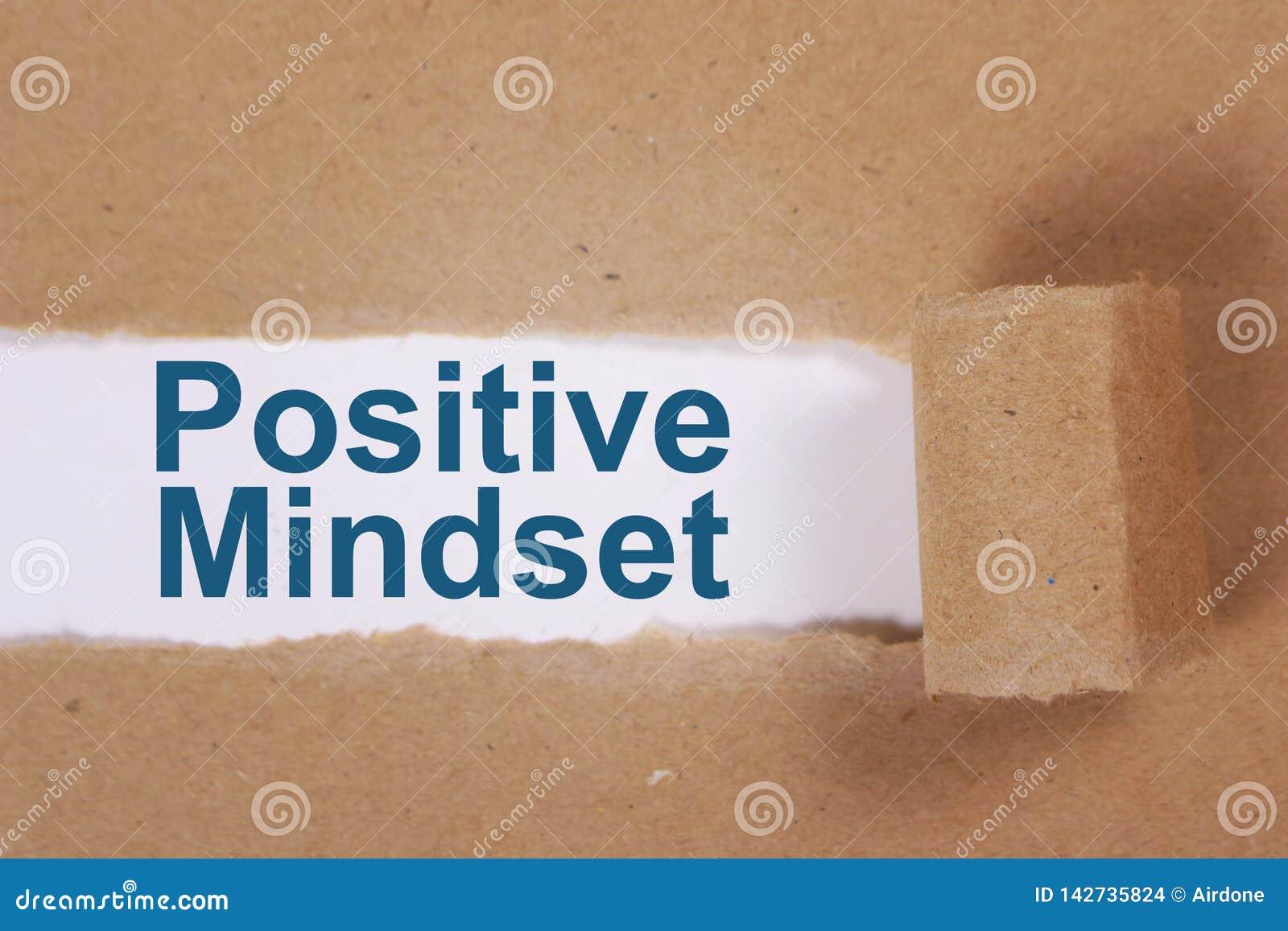 Positive Mindset, Motivational Words Quotes Concept