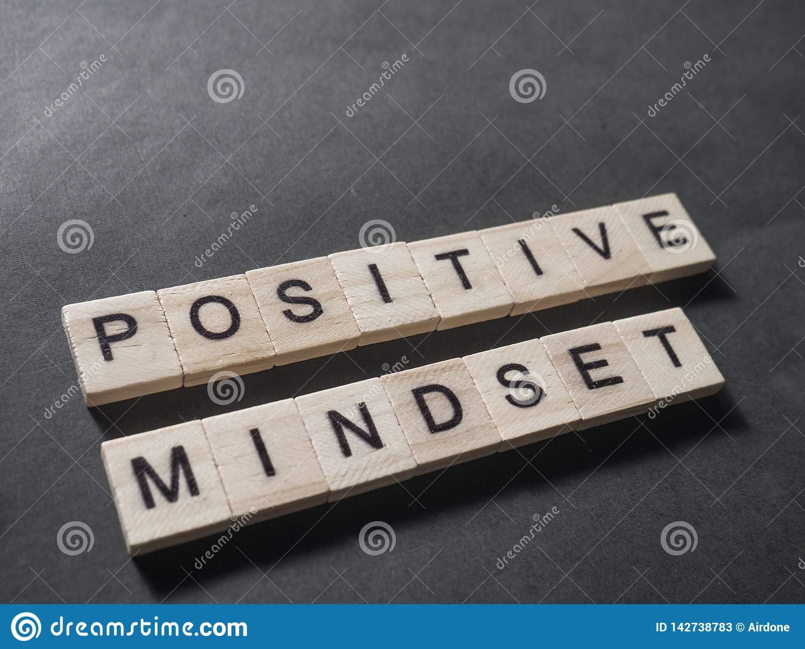 positive mindset motivational words quotes concept stock image