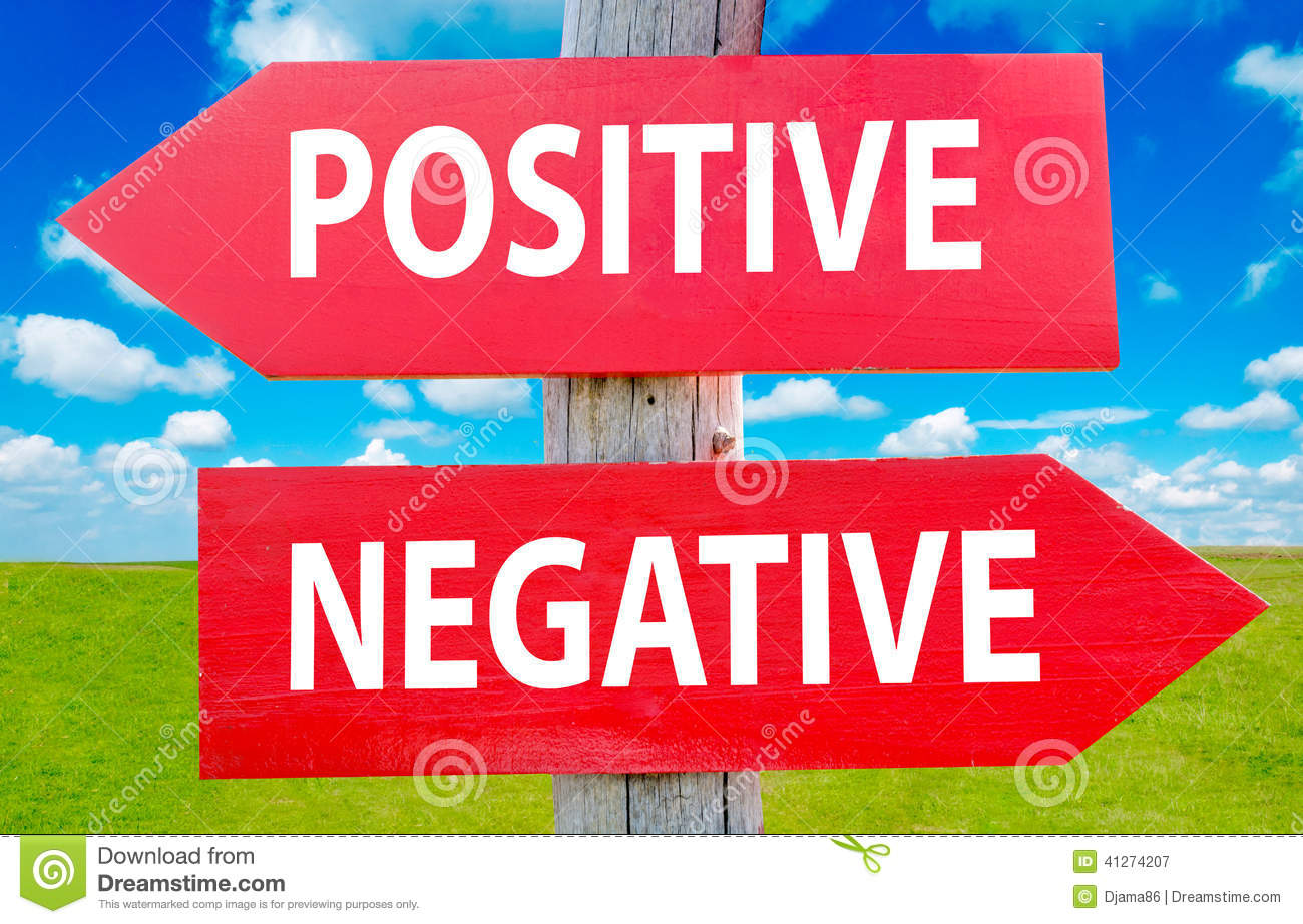Positive and negeative choice showing strategy change or dilemmas.