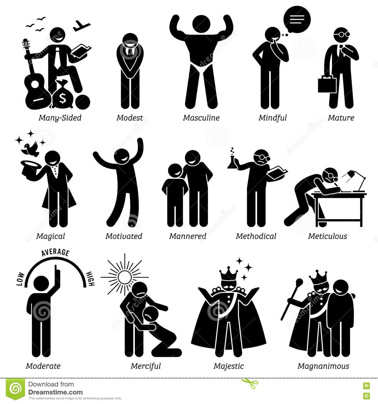 Positive Personalities Character Traits Clipart  Positive Character Traits