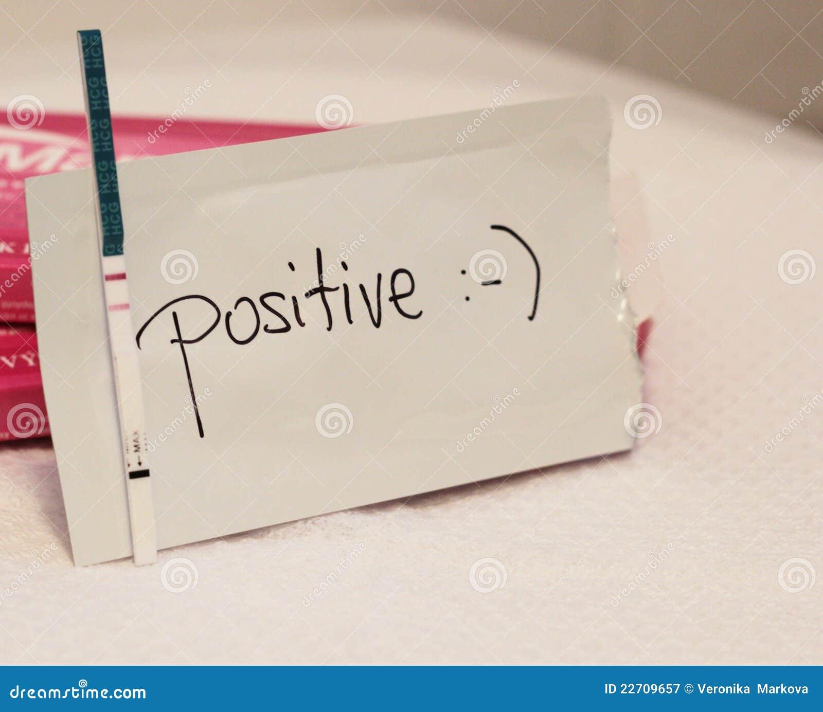 Positive pregnancy test stock image. Image of fertility ...