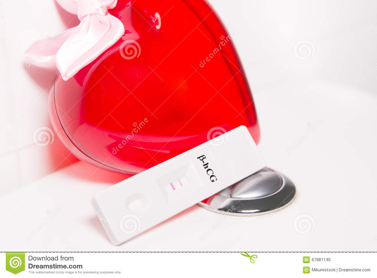 Positive pregnancy test and heart