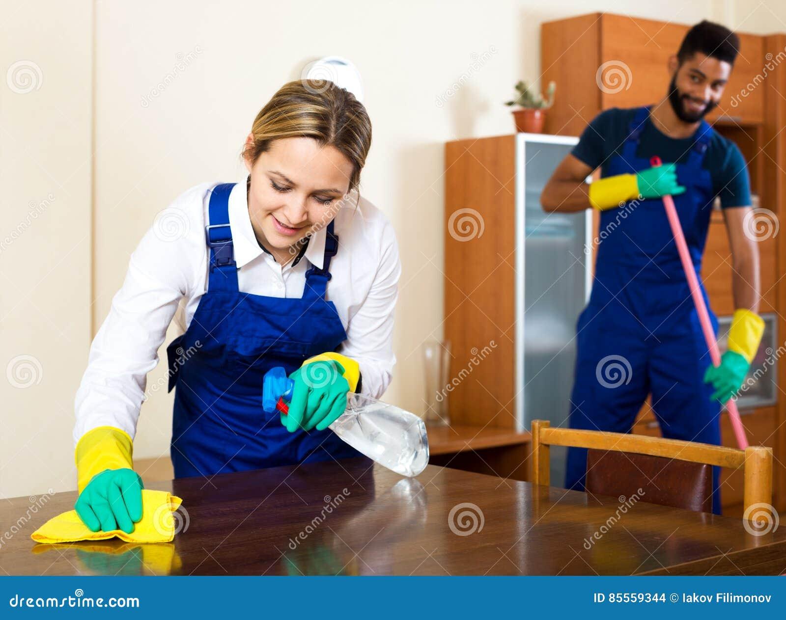 Positive säubernde und abwischende Reiniger