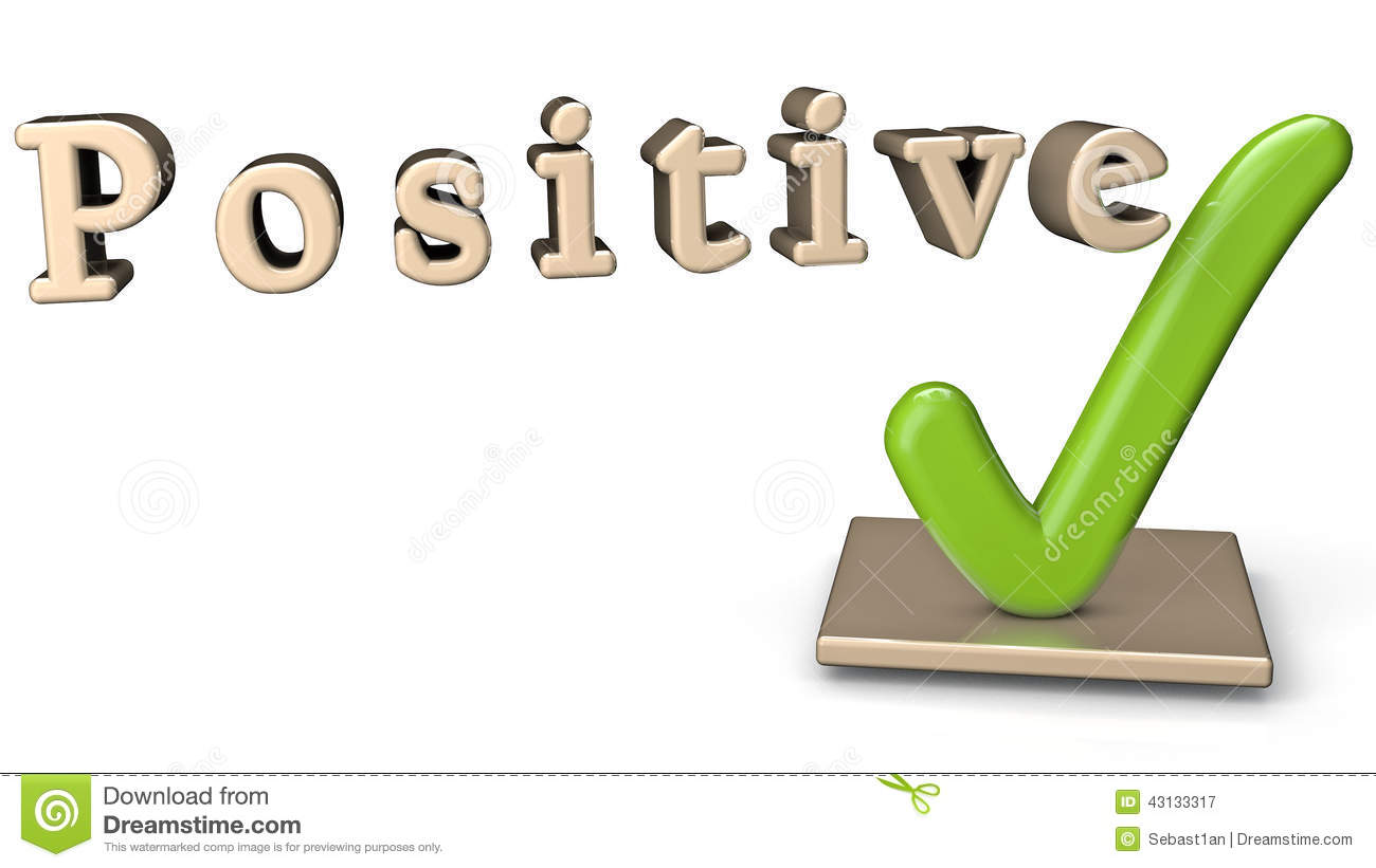 Positive Sign Stock Illustration - Image: 43133317