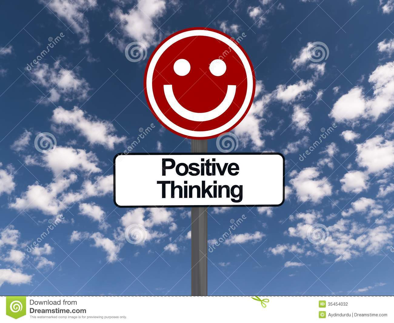 positive thinking sign stock photography image 35454032