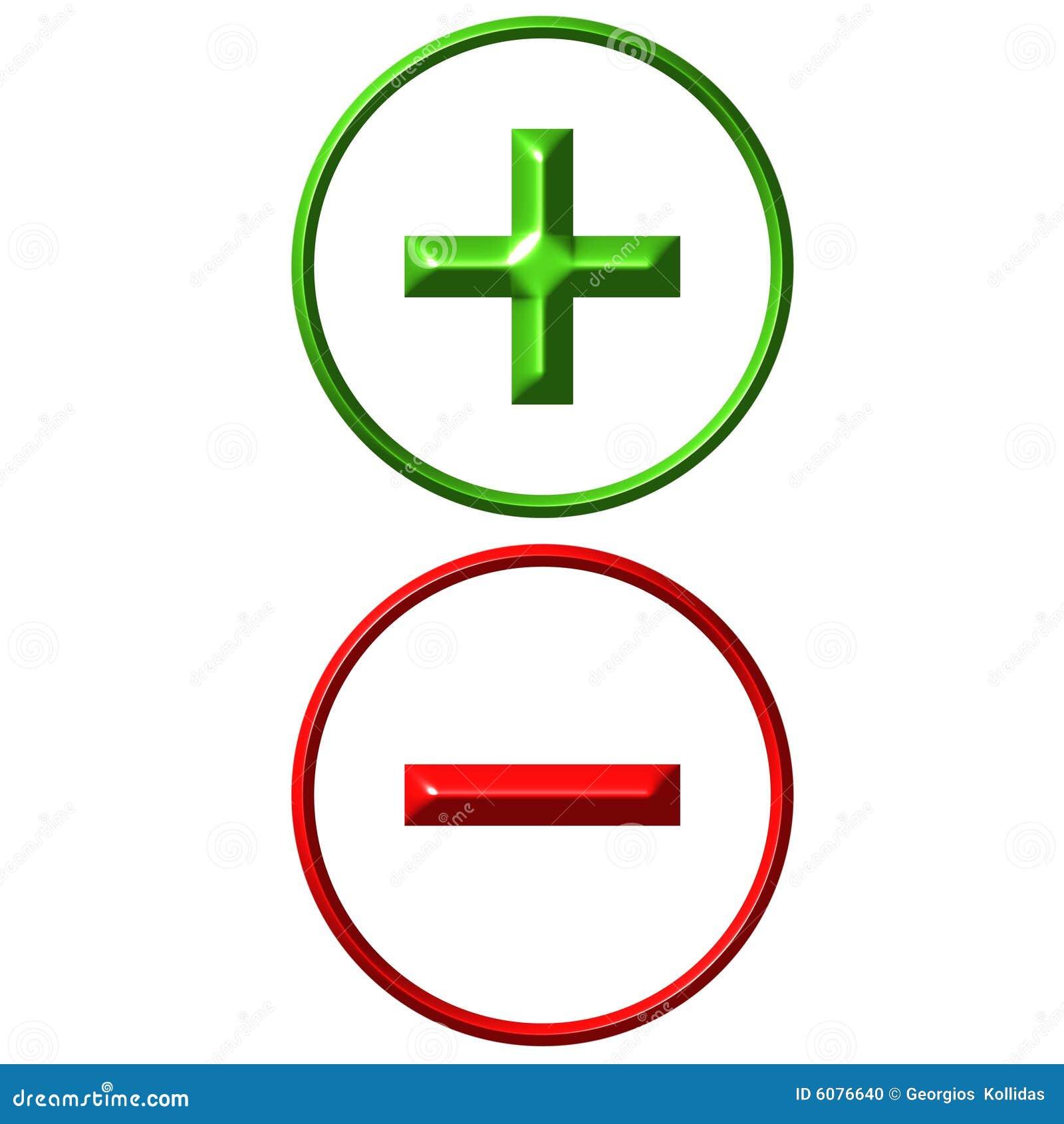 Positivo E Negativo Ilustra U00e7 U00e3o Stock  Ilustra U00e7 U00e3o De Adi U00e7 U00e3o