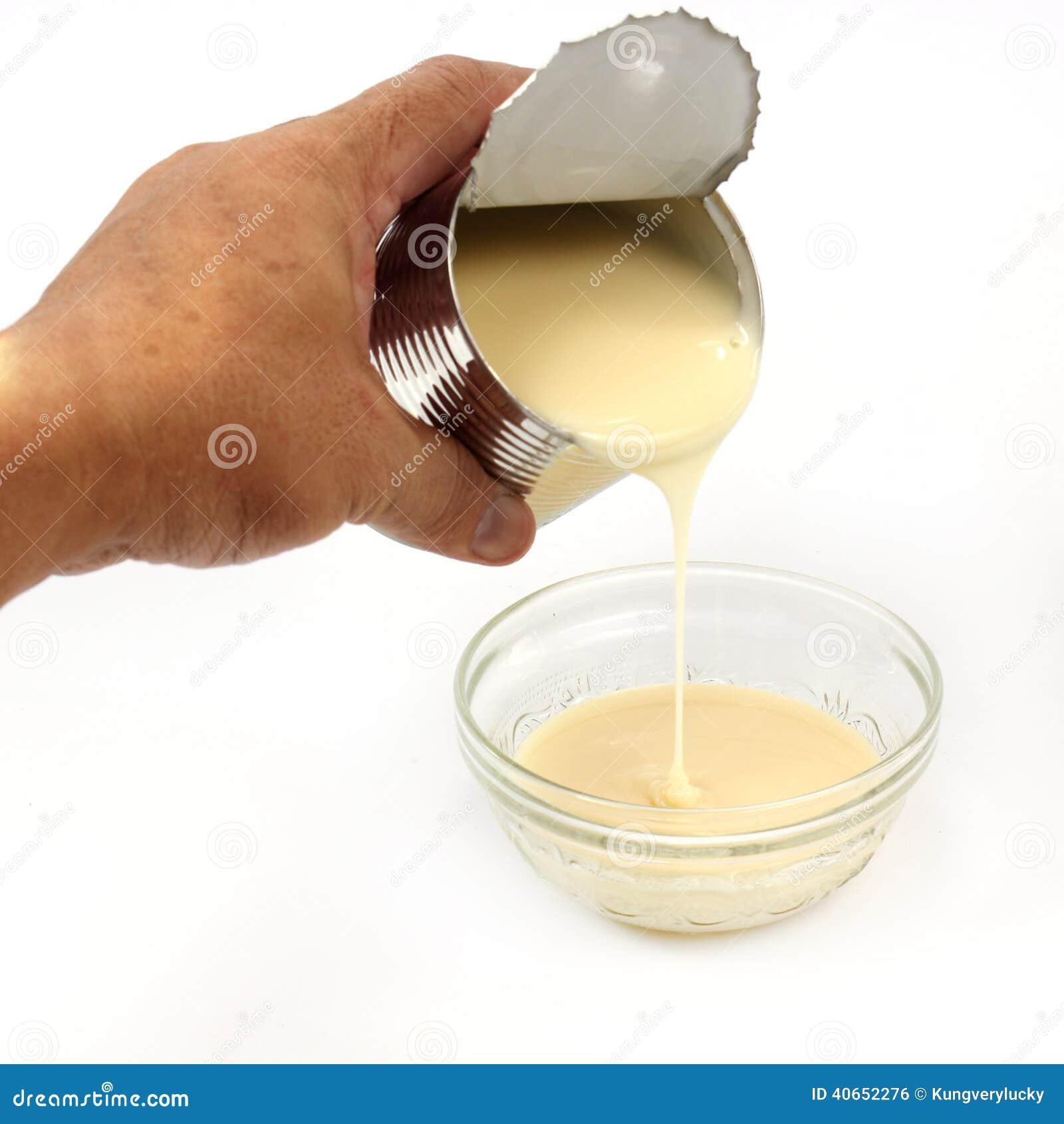 Possa do leite condensado abrandado