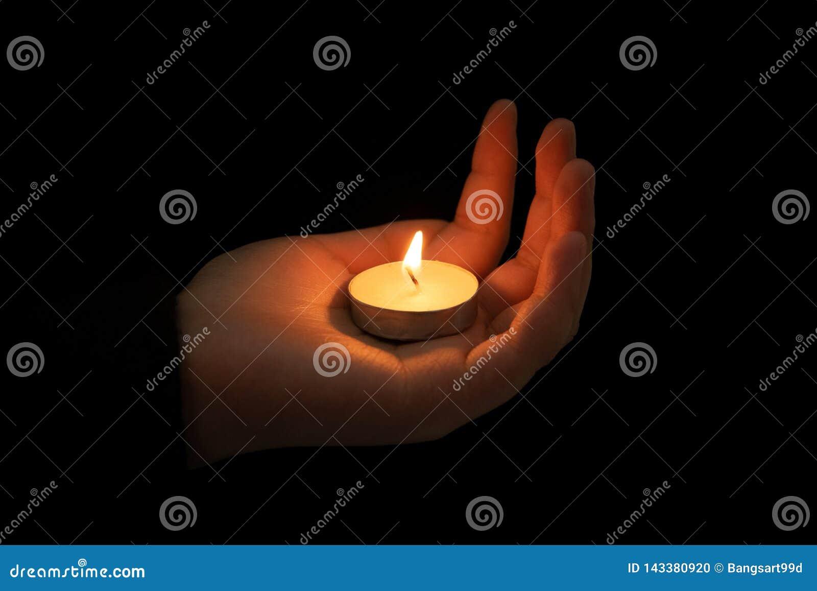 Posse da mão um a vela