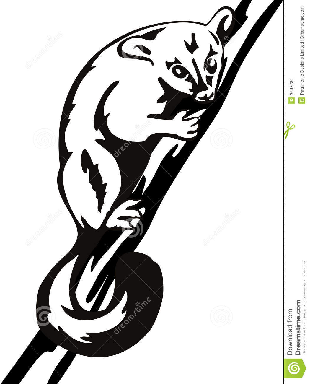 Possum clip art black and white clipart download 2 - WikiClipArt