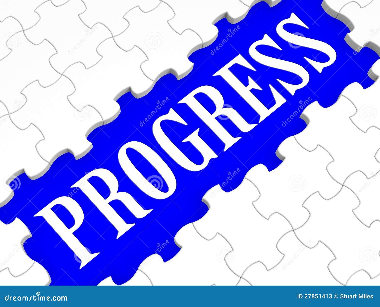 Postęp łamigłówki przedstawień biznesu przyrost