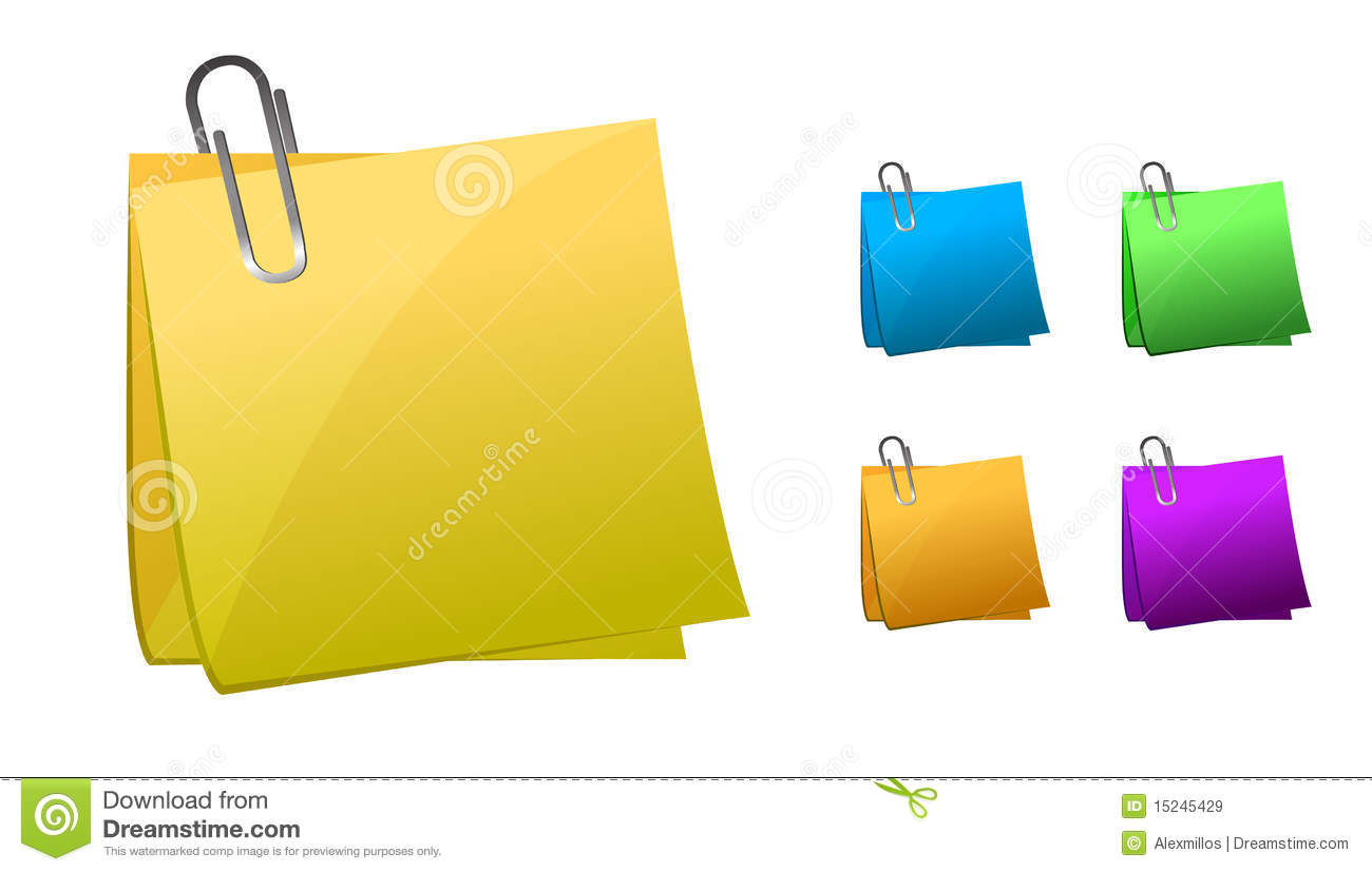 post it stock vector image of message fasteners