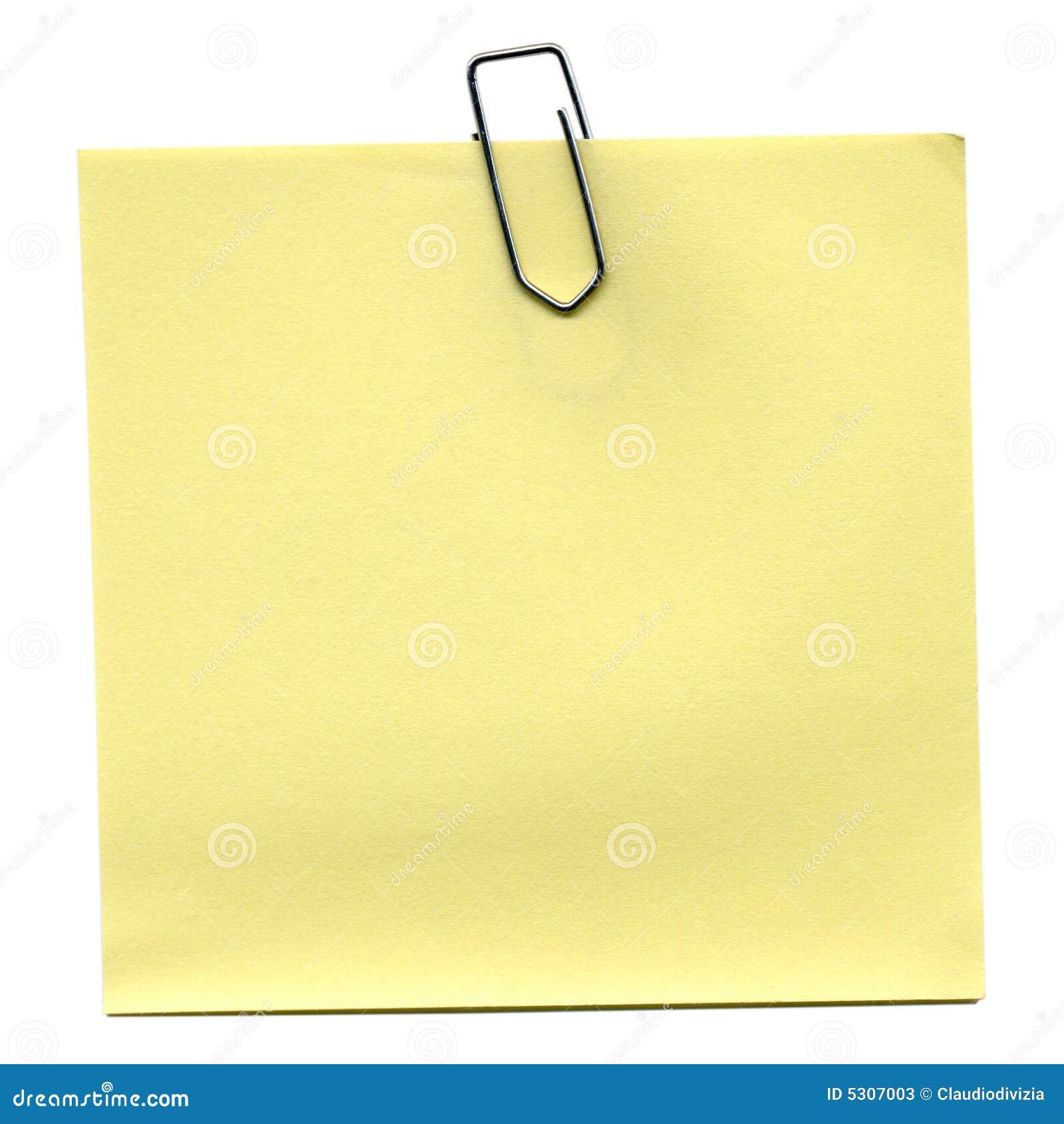 Download Post-it immagine stock. Immagine di notepad, clip, alberino - 5307003