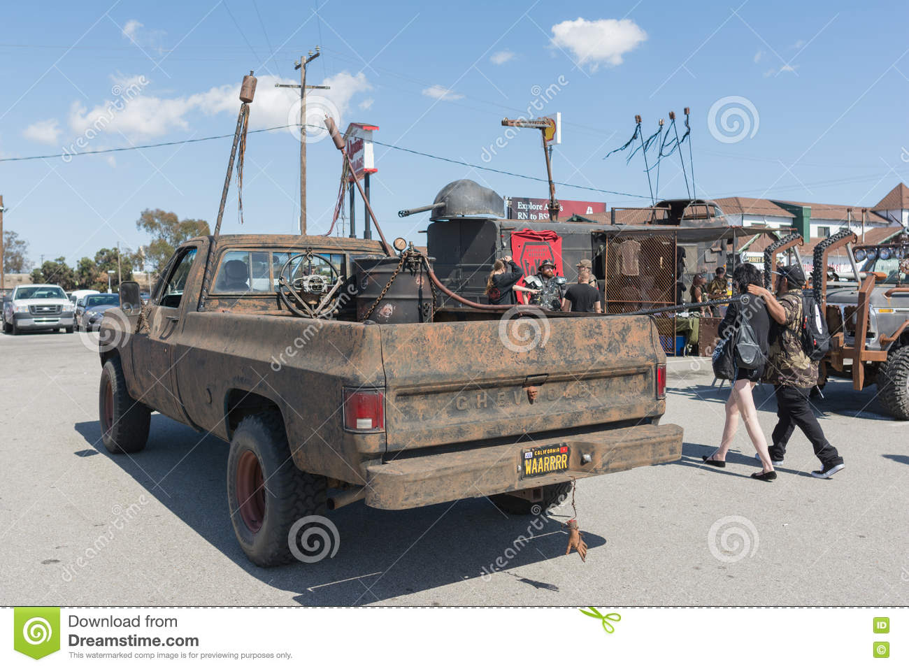 Editorial stock photo download post apocalyptic survival truck editorial stock image