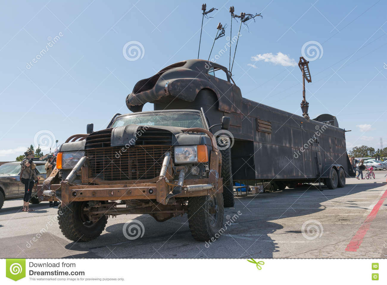 Editorial stock photo download post apocalyptic survival truck