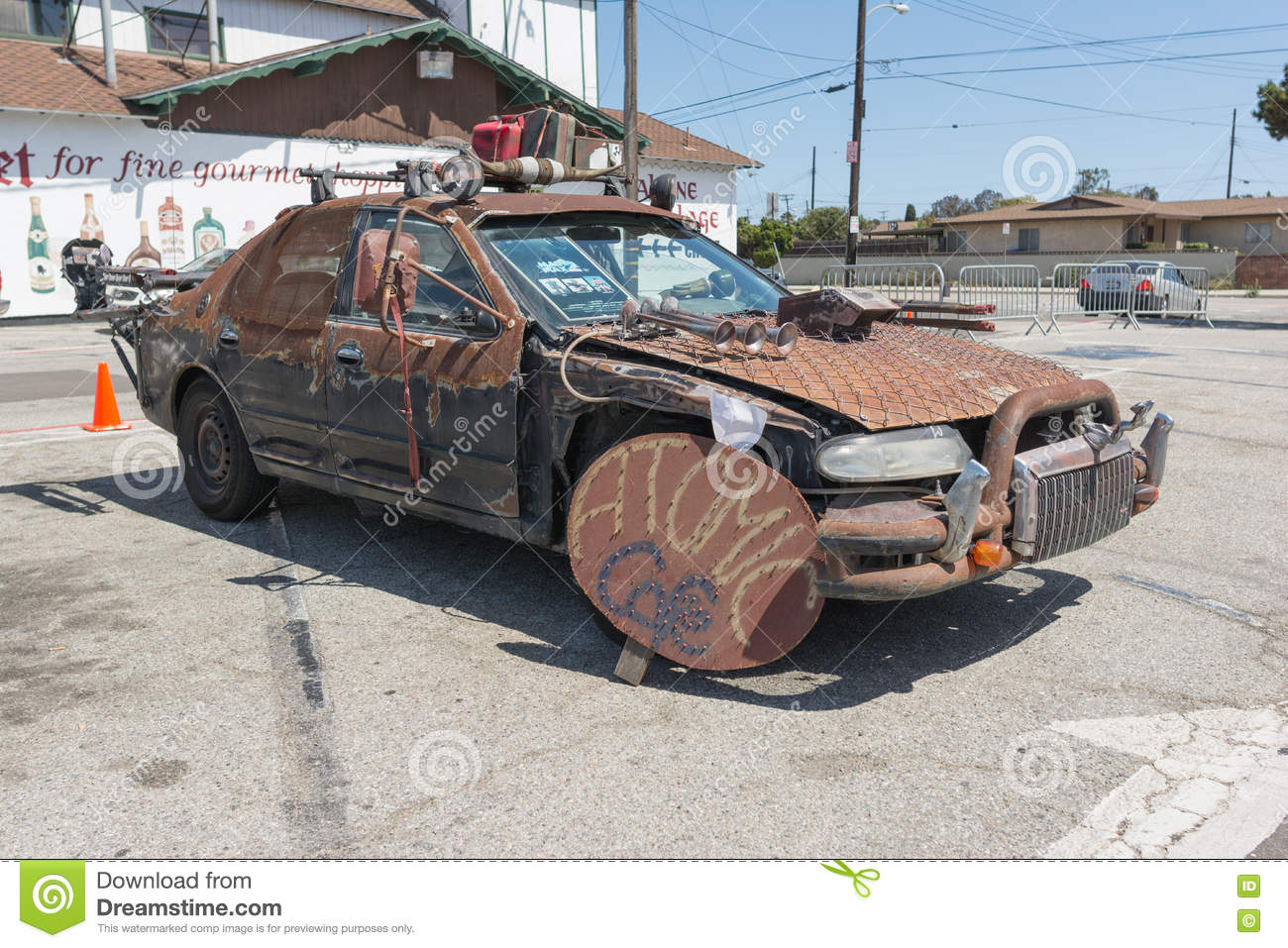 Post-apocalyptic Survival Vehicle Editorial Photo - Image of fantasy ...