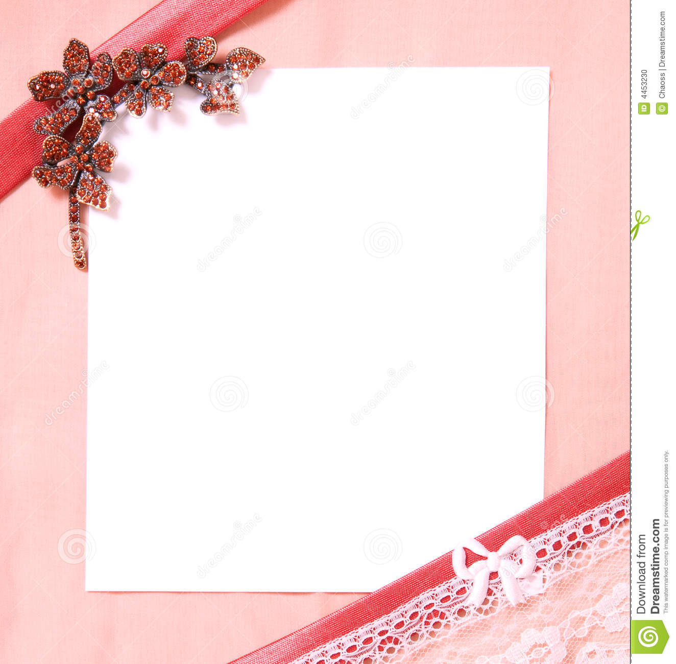 Post Card With Blank Sheet Of Paper Stock Photo Image