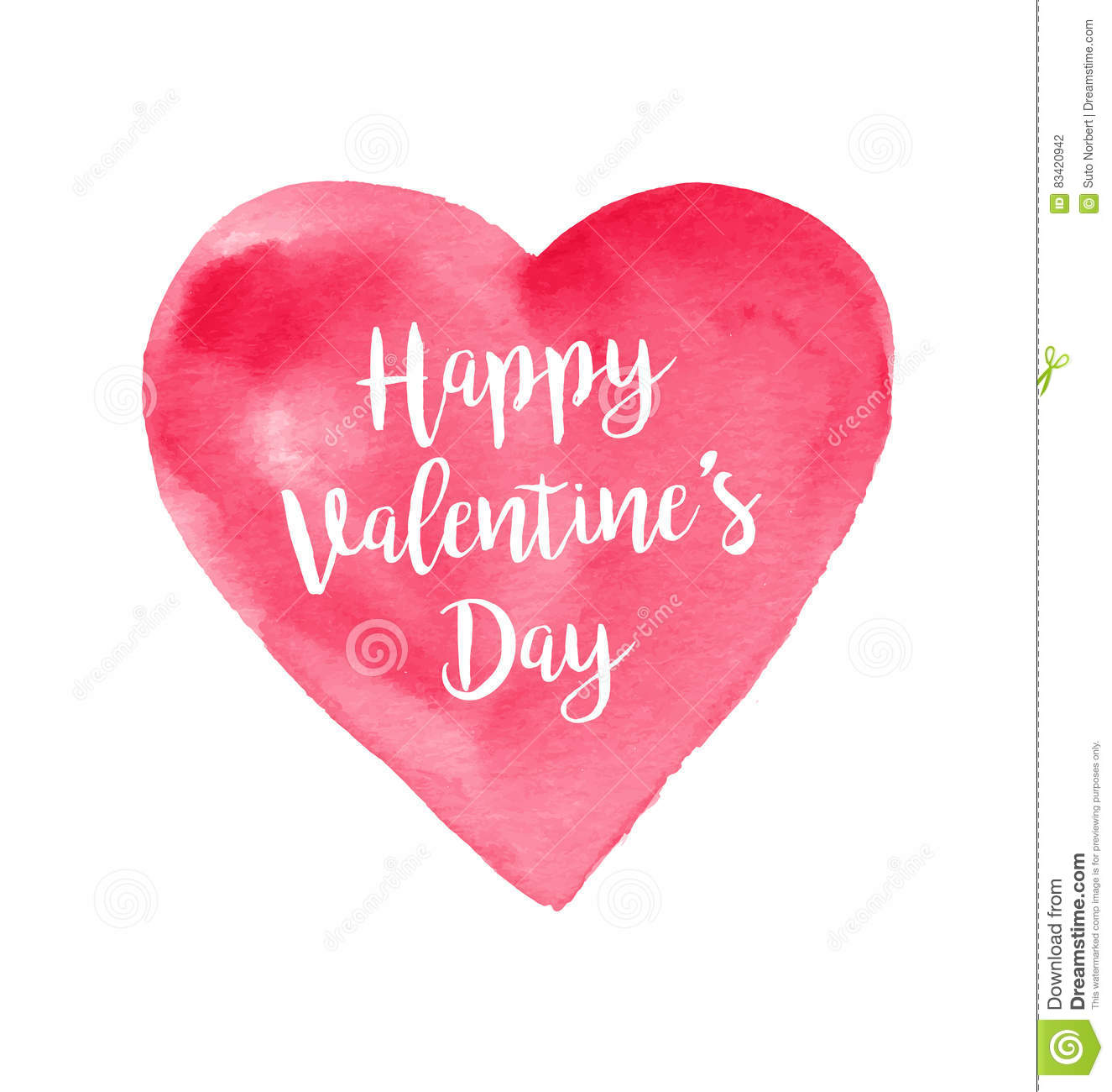 Post Card For Valentine`s Day
