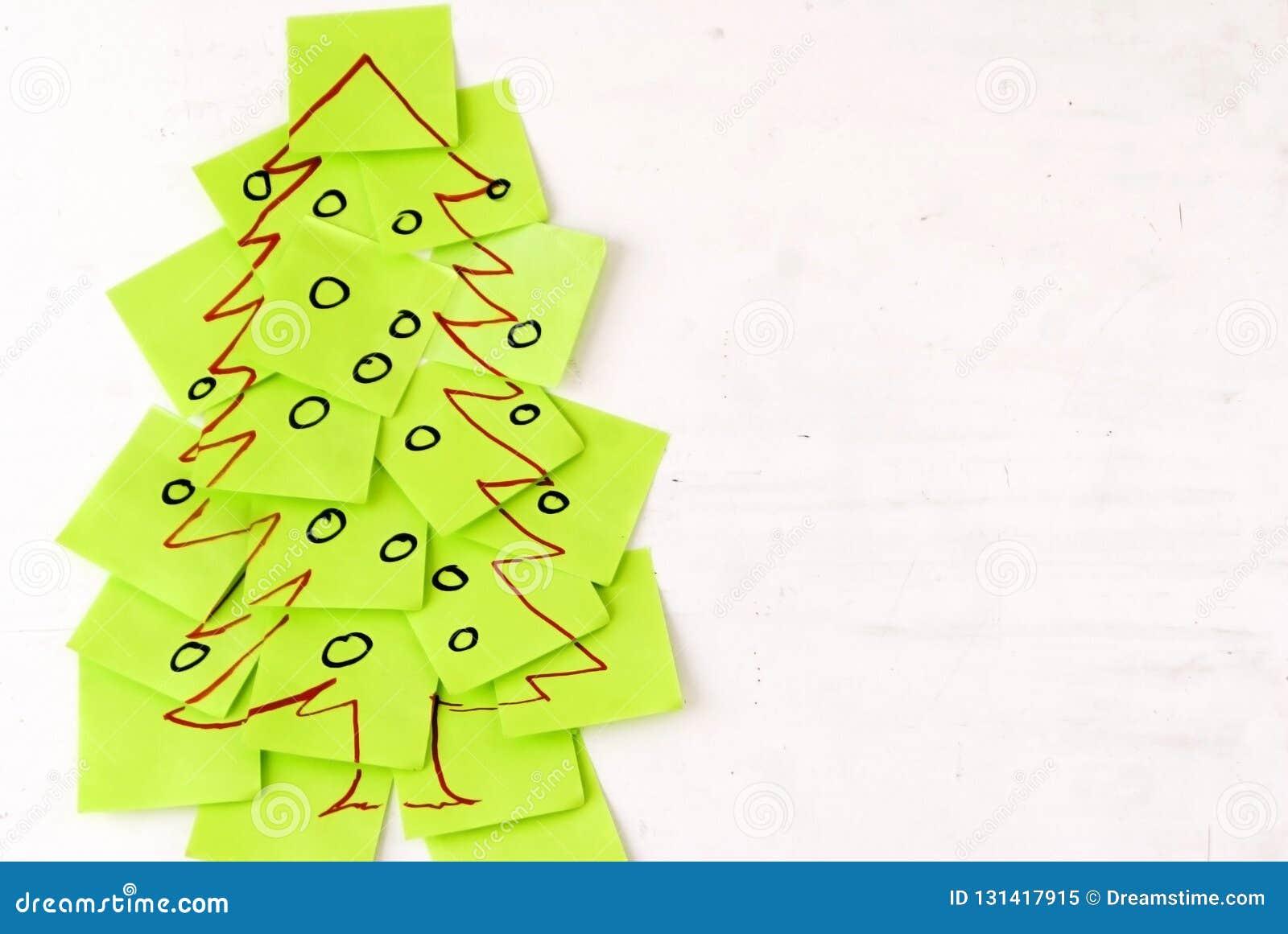Post-it d arbre de Noël