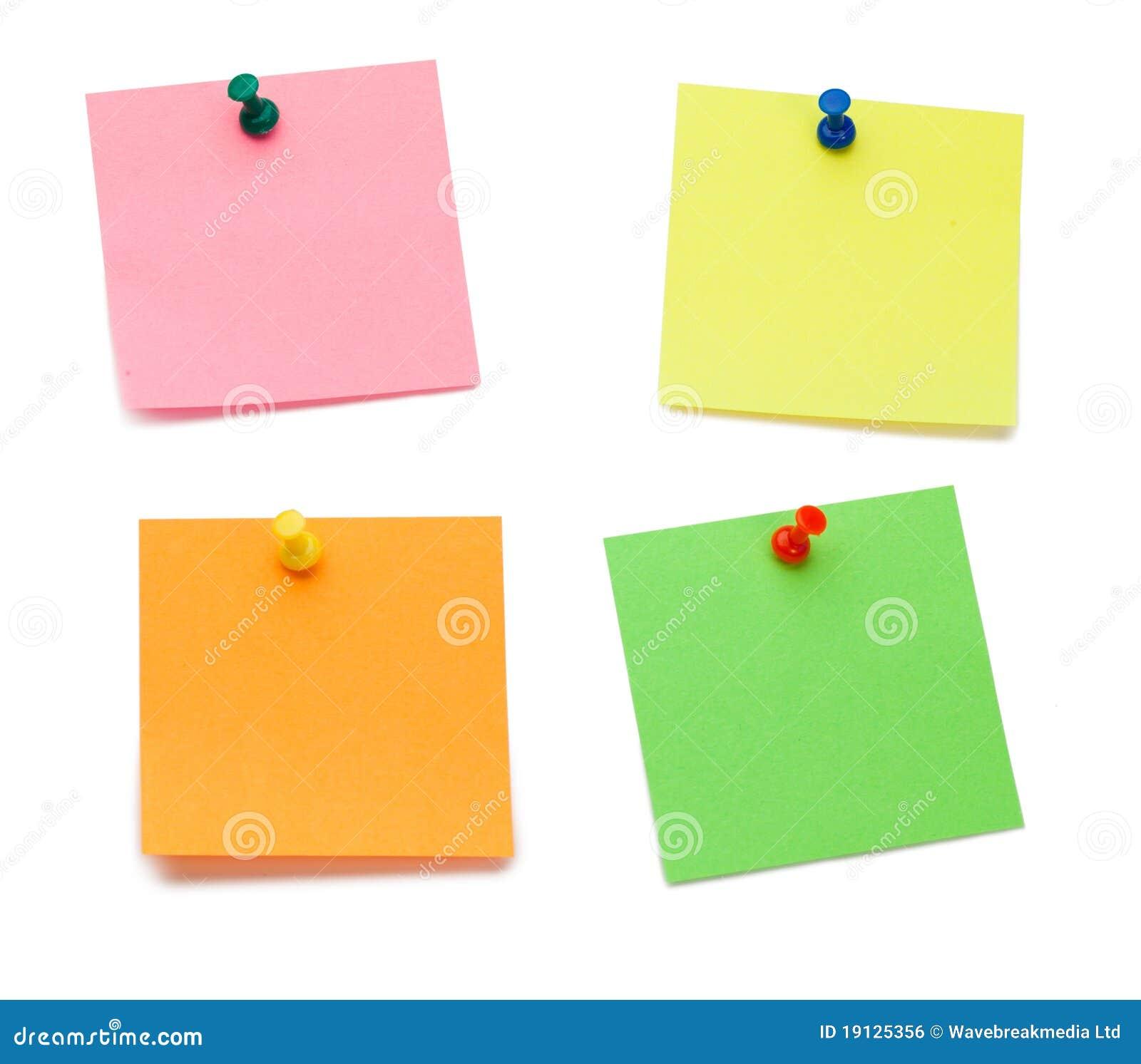 Post-it del color con los contactos de gráfico