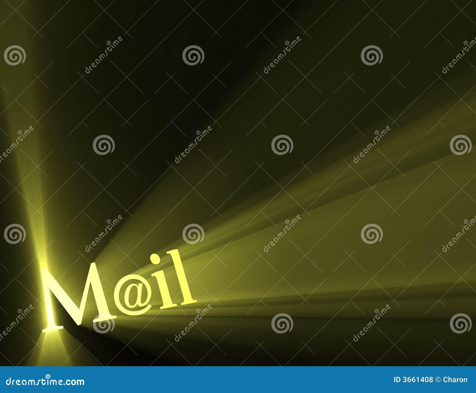 Post am eMail-Sonneleuchteaufflackern