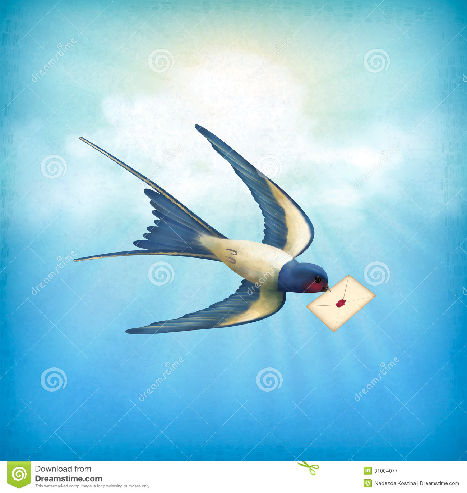 Post för himmelfågelbokstav
