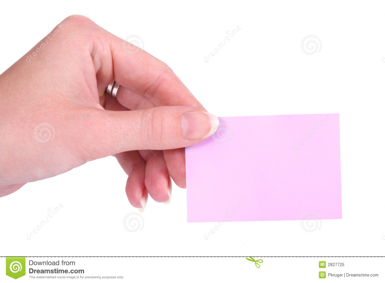 Post-It and hand