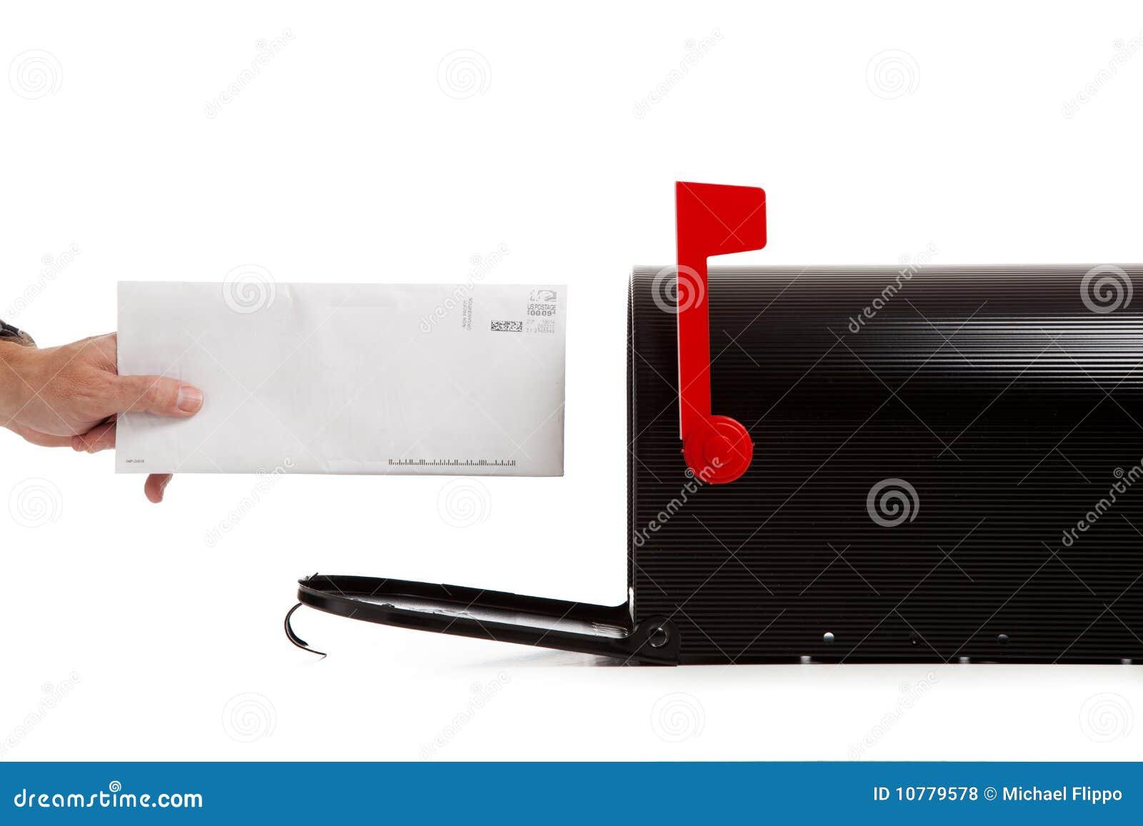 Post liefern oder empfangend