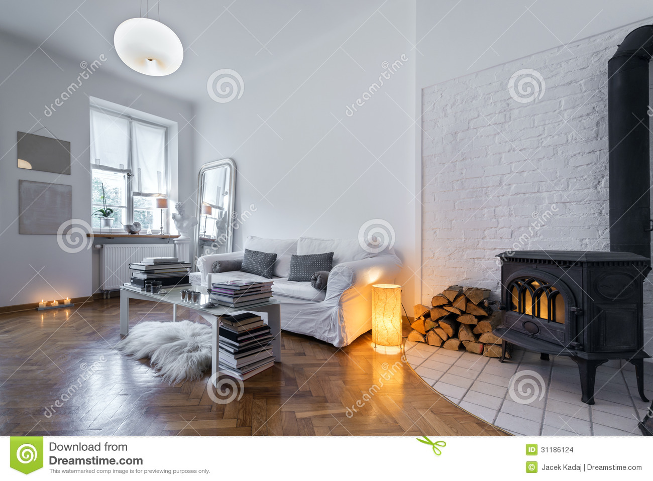 Captivating Post Modern Interior Design Stock Photo   Image Of Fireplace, Classic:  31186124